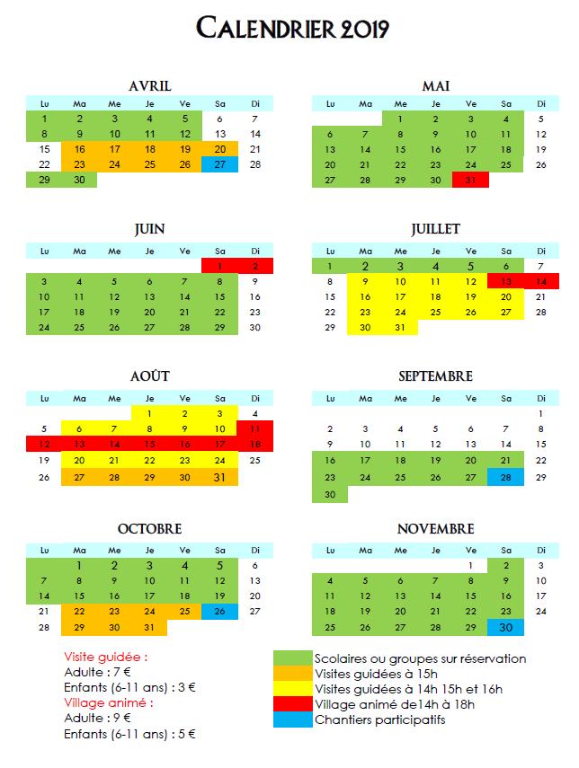 Retrouvez plus d'informations sur le calendrier ci-dessous
